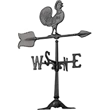 Montague Metal Products 32-Inch Deluxe Weathervane with Swedish Iron Rooster Ornament