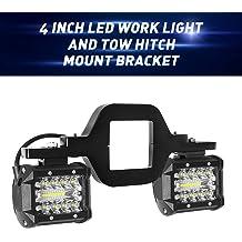 Trailer Lights LY039-1 OPP ULITE LED Brake Tail Light 15 LEDs Red Lens Trailer Hitch Cover Fit 2 Receiver Truck SUV