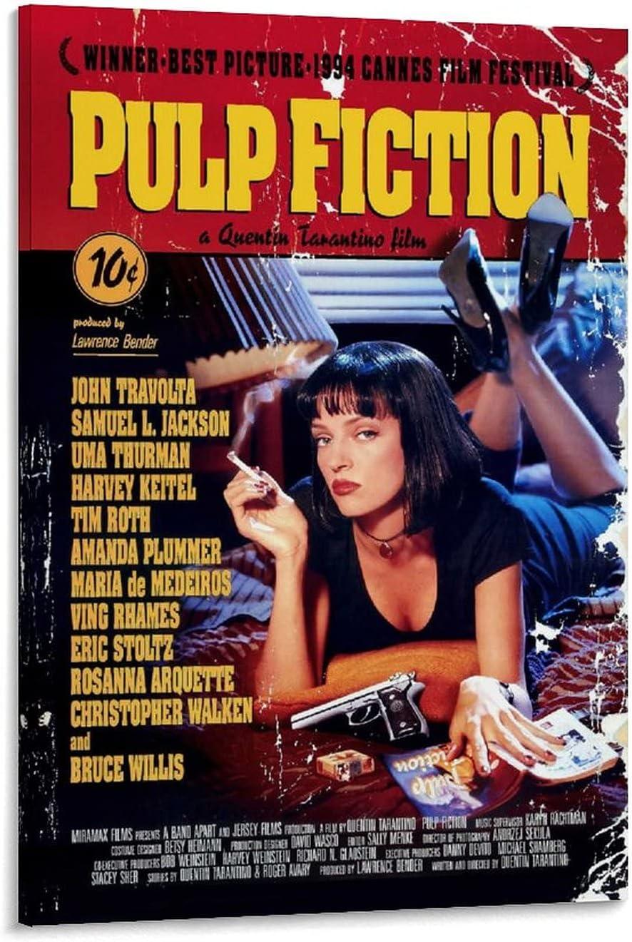 Buy Trelemek Canvas Wall Art Paintings, Pulp Fiction Movie Poster ...