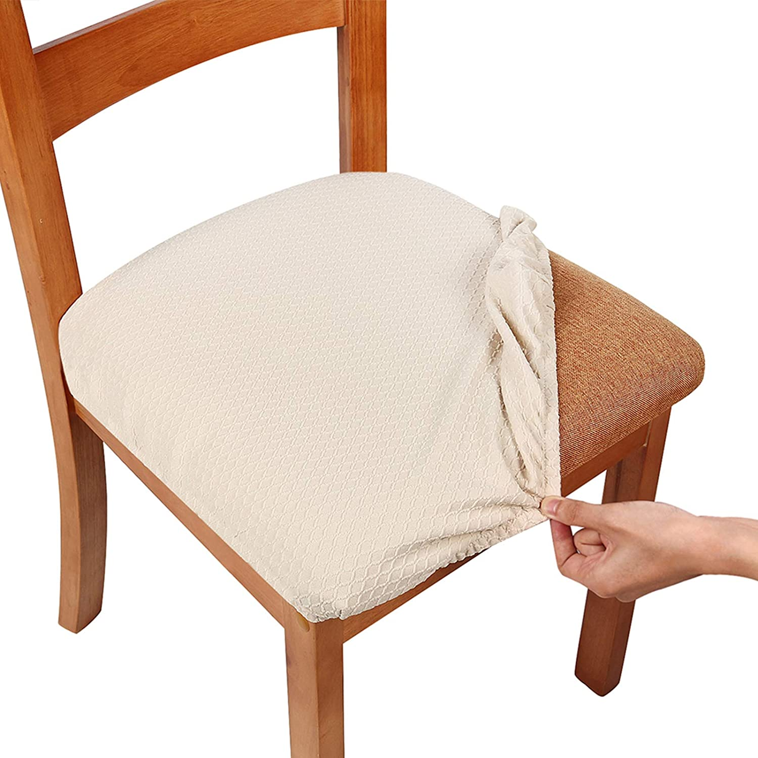 Smiry Seat Covers For Dining Room, Orange Dining Room Chair Cushions
