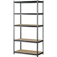 Heavy Duty Steel Storage Shelf Rack 5 Adjustable Shelves Garage 4000 Lbs 2 Set