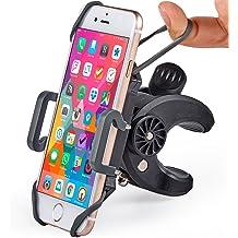 Suuonee Motorcycle Phone Mount Motorcycle Stem Yoke GPS Navigation Frame Holder Mobile Phone Mount Bracket