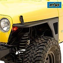 Hooke Road Jeep TJ Flat Fender Flares Front Steel Armor Wheel Cover Guards for 1997-2006 Jeep Wrangler TJ 2PCS