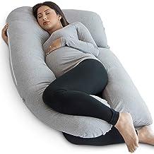 EOICIOI Maternity Pillow U-Shape Pregnancy Pillow for Full Body Pillows Pregnant Women Blue+Grey