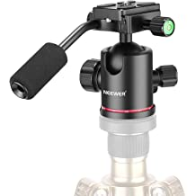Neewer Video Camera Digital Recorder Adapter with Mini Ball Head-360 Degree Pan and 180 Degree Tilt Movement for Connecting 1//4-inch Thread Camera Camcorder Recorder with 5//8-inch Mic Stand or Boom