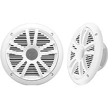 """Pair Boss Audio MR60W 6.5/"""" 200 Watt White Marine 2-Way Boat Speakers"""
