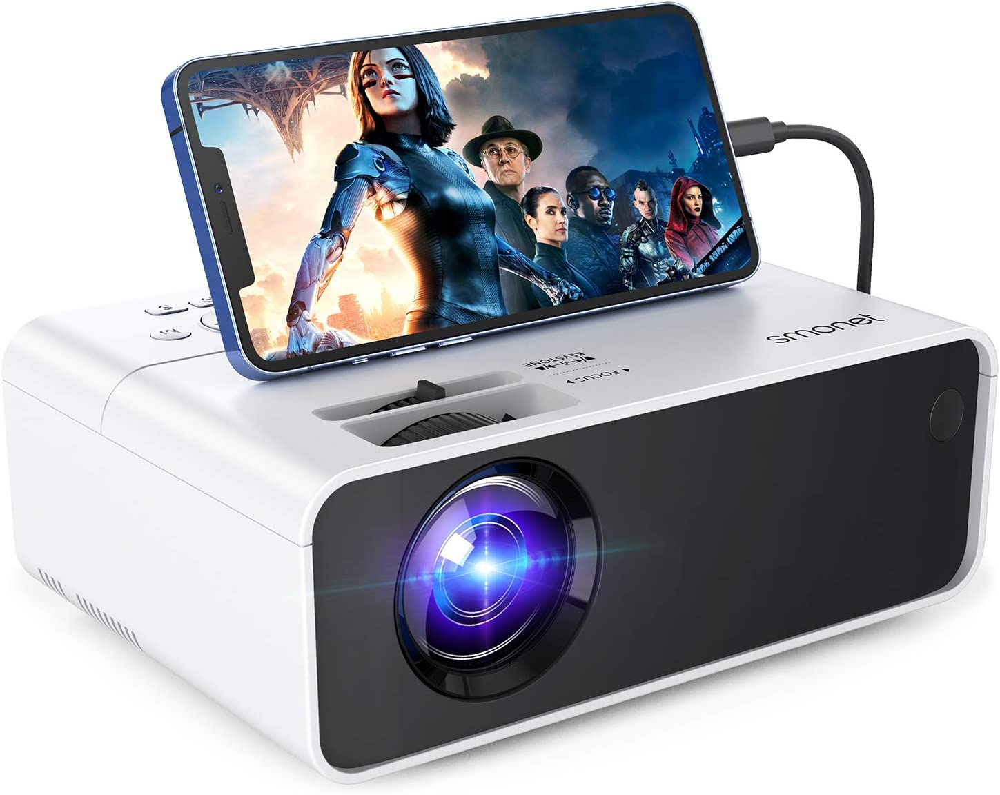 Buy 20p Projector for Outdoor Movie,SMONET Portable Movie Mini ...