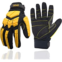 Ironclad KONG INDI-CCP-03-M Industrial Impact Cotton Corded Palm Oil /& Gas Safety Gloves Medium