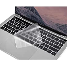 Clear Model: A2159, A1989, A1990, A1706, A1707 Transparent Skin MOSISO Premium Ultra Thin TPU Keyboard Cover Compatible with MacBook Pro with Touch Bar 13 and 15 inch 2019 2018 2017 2016
