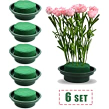 Bright Creations Floral Wet Round Cylinder Foam for Fresh Flowers 6 Pack