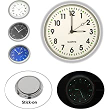 Cars 1.57 Diameter Mini Luminous Motorbike Vehicle Air Vent Quarz Clocks Perfect Decoration for Motorcycle Womdee Stick-on Car Dashboard Clock Round Analog Quartz Clock SUV and MPV