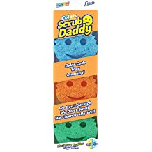 1pk Scratch Free Scrub Daddy FlexTexture Sponge Multiuse Deep Cleaning Functional Firm in Cold Scrub Daddy Dye Free Dishwasher Safe Soft in Warm Water Odor Resistant