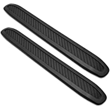 2Pcs Universal Patch Bumper Guard Strip Anti-Scratch Bumper Protector Trim for Cars SUV Pickup Truck Car Accessories-Black