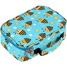 BTSKY High Capacity Zipper Pens Pencil Case with Pattern-Multi-Functional Stationery Pencil Pouch 36 Large Stretchy Slots for 72 Colored Pencils New Rose