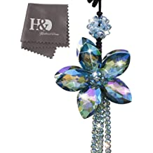 MLOVESIE Car Charm Rear View Mirror Hanging Ornament Feather Home Decor Sweater Chain Necklace White