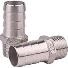 Dernord 1//2 Barbed Hose x 1//2 NPT Male Home Brew Fitting 304 Stainless Steel Pack of 1