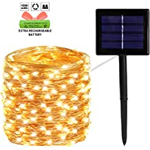 YIQU Solar String Lights Outdoor Waterproof 72ft 200 LED 8 Modes Fairy Lights for Garden Tree Patio Yard Wedding Party Decorations Cool White 2-Pack Upgraded Durable Solar Lights Outdoor
