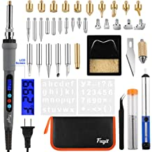 Pyrography Wood Burning Pen with Adjustable Temperature Embossing Carving ATPWONZ 37Pcs Wood Burning Kit Wood Burner Craft Tool for Wood Burning Soldering