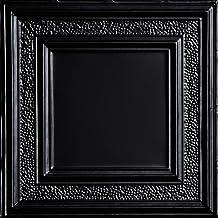 Satin Black Shanko SKPC209-bk-24x24-N-12 Tiny Tiptoe Stamped Metal Ceiling Tile