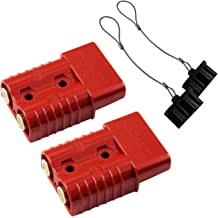 Karcy Pack of 2 Connector Dust Cover Soft Cover Connector Cover for 175Amp DC Power Connectors Black and Red Color