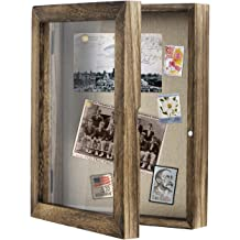 Black Shadow Box Display Case Large Shadow Box with Double-Sided Foam Background for Flowers 8x10 Shadow Box Picture Frame Top Loading Shadow Box with Slot Tickets and Pins Memory Box Bank