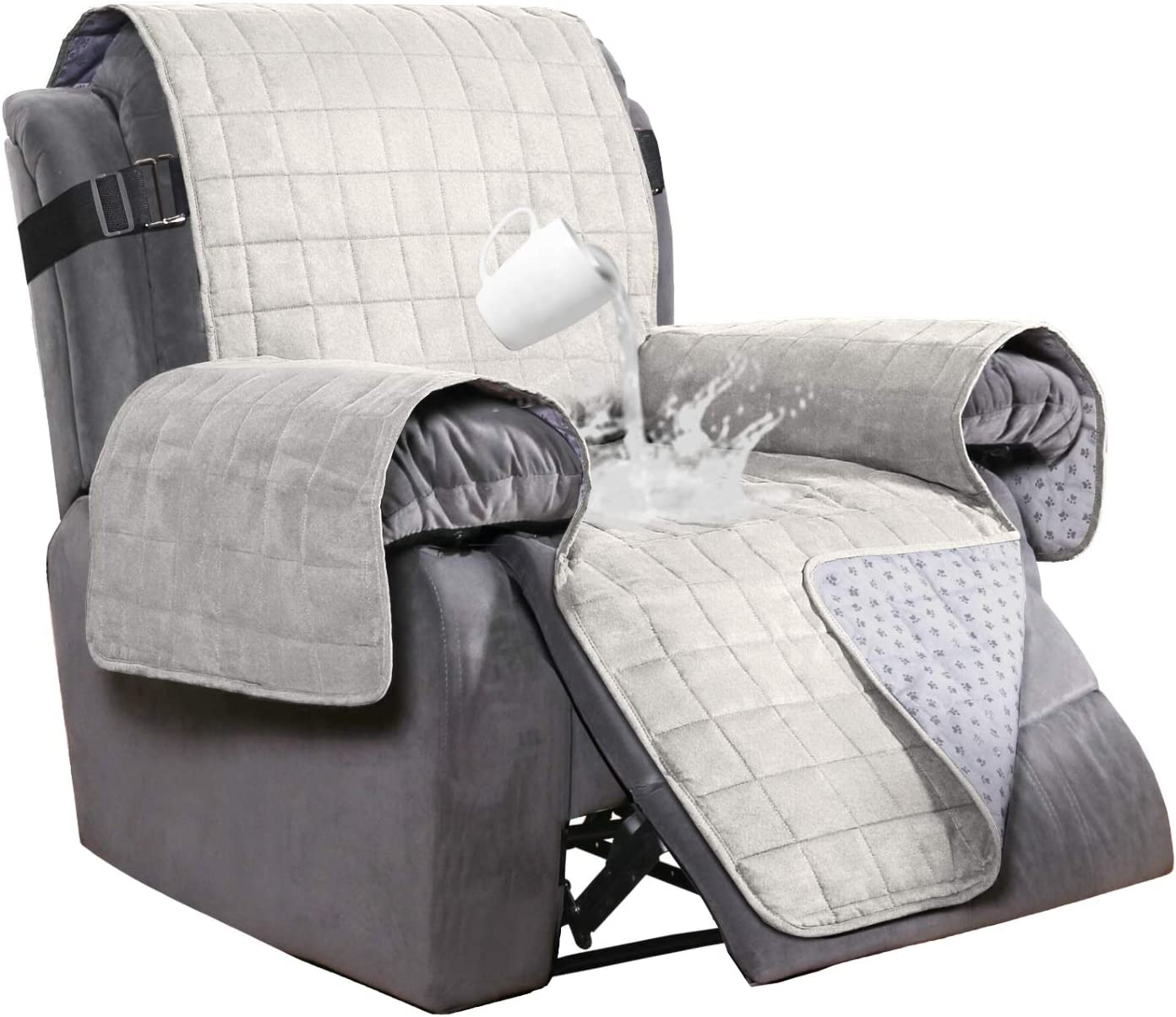 Waterproof Suede Recliner Chair Cover, Chair Covers For Sofa Recliners