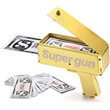 Money Gun Machine Cash Rain Canno Shooting Launch Gifts Toys Party SHooter Notes