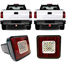 LED Work Light Pods,EBESTauto 4 Inch LED Light Bar with 2.5 Inch Towing Hitch Mount Brackets LED Bar for Truck Trailer SUV Pickup Fit Dual Led Off-road Driving Light bar