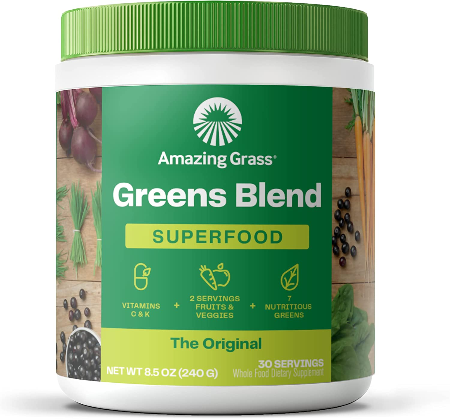 Buy Amazing Grass Greens Blend Superfood Super Greens Powder with ...