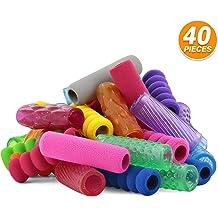 Emraw Soft Foam /& Squishy Gel Pencil Grips Assorted Colors Handwriting Pen Grip