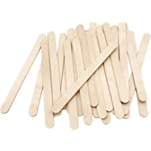 BAZIC 3434-2PK Jumbo Colored Craft Stick Natural 2 Assorted Totals 100 50 Per Pack
