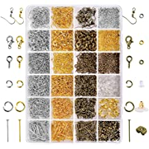 100/% Natural Stone Beads Kit 4 LPBeads Natural Stone Beads Set Kits 8mm Round Loose Gemstone Assorted Color with Accessories Tools for Bracelet Jewelry Making