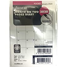 Filofax 2020 Personal//Compact Week to View Refill 6.75 x 3.75 inches Jan 2020- Dec 2020 Cream Paper C68424-20