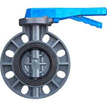IrrigationKing RKLO2 Cast Iron Butterfly Valve 2 EPDM Lever Style Black