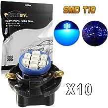 Sockets PC194 10X Ice Blue T10 168 8SMD LED Instrument Panel Light bulbs