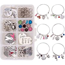 DROLE 40Pcs 30mm Stainless Steel Bezels and Cabochons 20Pcs 30mm Cabochon Pendant Trays with Necklace Clasp and 20Pcs 30mm Rond Glass Cabochons for Cameo Jewelry