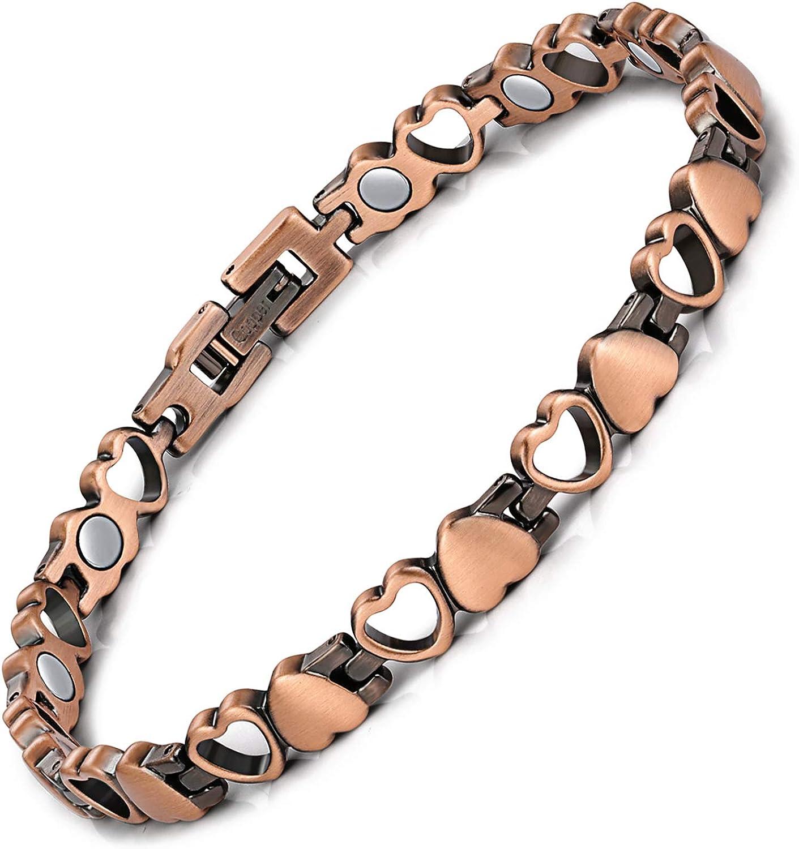Feraco Women Copper Magnetic