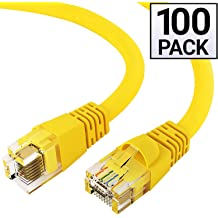 GOWOS Cat5e Ethernet Cable 24AWG Network Cable with Gold Plated RJ45 Non-Booted Connector 1Gigabit//Sec High Speed LAN Internet//Patch Cable White 10-Pack - 6 Feet 350MHz