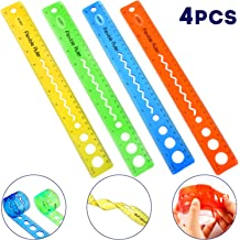 Straight Ruler Office Rulers School Rul Chuangdi 20 Pieces Plastic Color Rulers