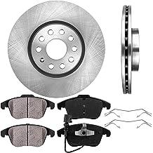Clips FRONT 276 mm Premium OE 5 Lug 4 Brake Disc Rotors + Ceramic Brake Pads 2