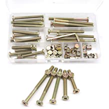 Swpeet 125Pcs 3 in 1 Furniture Crib Hardware Screws Connecting Fittings Kit Cam Fitting with Dowel 3-in-1 Hardware Connectors Furniture Side Connecting Pre-Inserted Nut Screw Eccentric Wheel