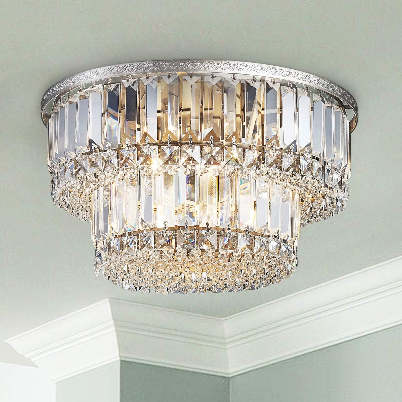 Saint Mossi K9 Crystal Chandelier, Saint Mossi Chandelier Modern K9 Crystal Raindrop Light
