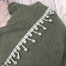 10yd silver Flower Plastic Pearl Bead String Wedding Trim Scrapbook Craft 1cm