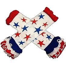 St Patricks Day Kelly Green /& White Stripes Baby Leg Warmer KWC