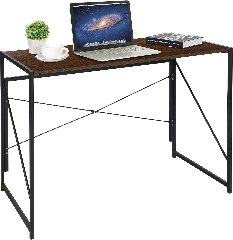 Zenstyle Folding Computer Desk, Portable Folding Computer Desk Laptop Table Workstation Furniture
