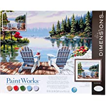 20 x 14 Dimensions 73-91728 PaintWorks Paint by Numbers Kit for Adults and Kids Bald Eagle