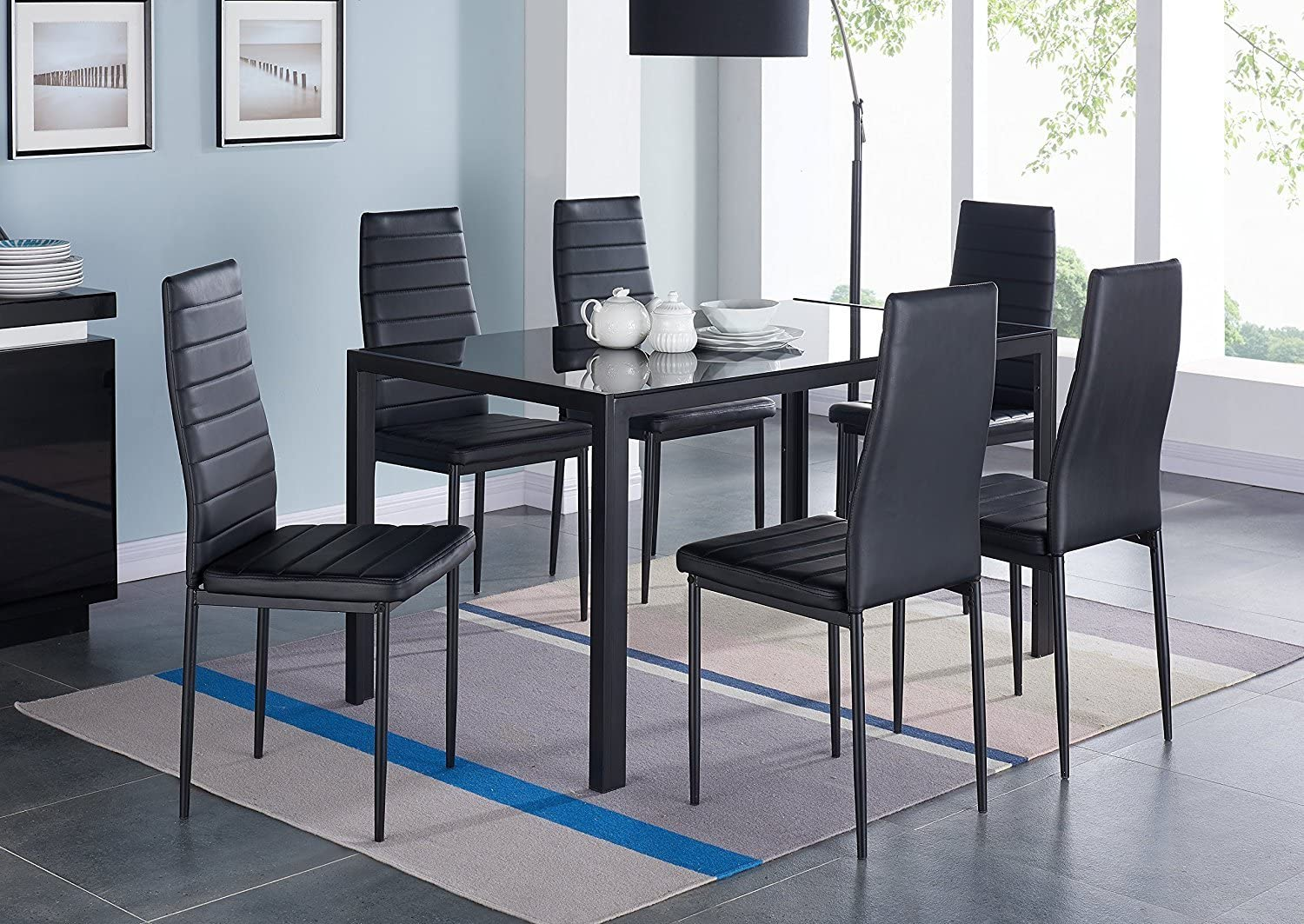 Modern Glass Dining Table Set, Best Dining Room Chairs 2018