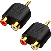 Conwork 3.5mm Stereo Male to 3 RCA Male Y Splitter Extension Cable for Audio Video AUX Port