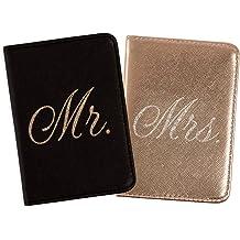 BECOZEE Family Passport Holder,RFID Blocking Travel Wallet Waterproof Ticket Holder Document Organizer with Wristlet Strap for Men Ladies Black