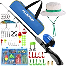 Spincast Kids Fishing Pole,Portable Telescopic Fishing Rod and Reel Full Kits
